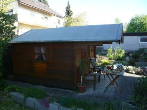 Gartenhütte Abdichtung nach der Bearbeitung