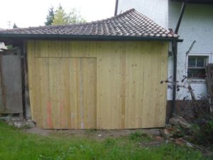 Holzbau erstellen einer Tür